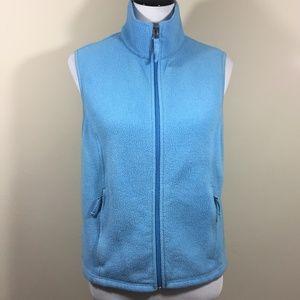 L.L. Bean Baby Blue Fleece Zipper Front Vest